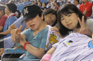 吉野 沙耶 利用者様と野球観戦